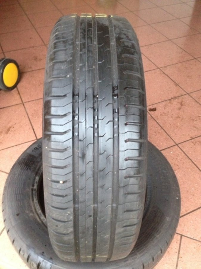 2 opony 185/65/15 Continental contiecocontact 5 7,5mm 2014r