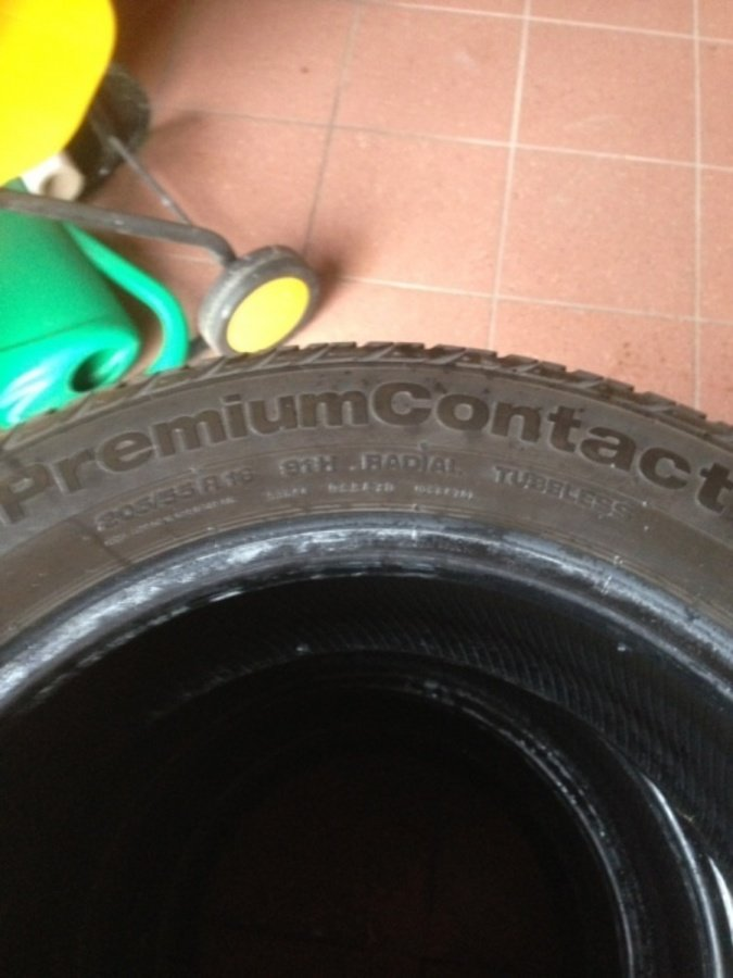 4 opony 205/55 r16 Continental premium contact 6,5mm 91h